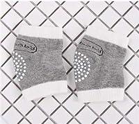 YWH-WH 靴下 防寒 クローリング滑り止めの膝ユニセックスベビー幼児子供の安全レッグウォーマー用パッドソックス 伸縮性 滑り止め (Color : A)