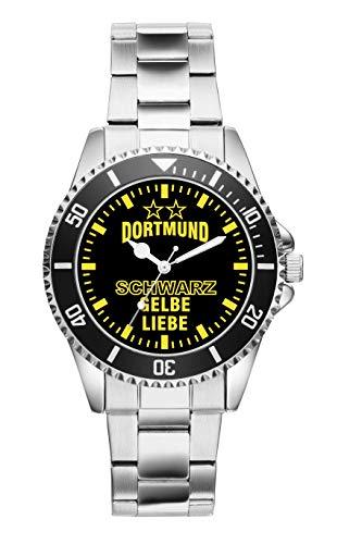 KIESENBERG - Dortmund Geschenk Artikel Idee Fan Uhr 6034