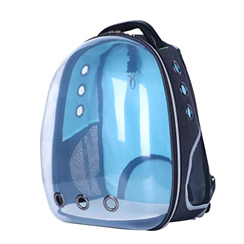 Luckycao School Backpack, Outdoor Pet Cat Dog Bags for Women Men Travel Outgoing Hiking Supplies (Color : Blue)