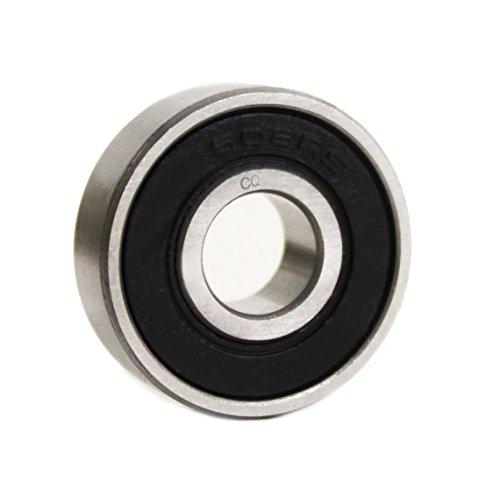 6001 2RS / 6001RS Kugellager 12x28x8 mm (28x12x8 mm) - Elektro-Motoren-Qualität Z2/V2 - Präzisionslager ABEC-3 - V-Dichtung