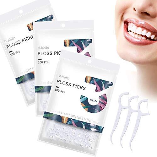 Dental Floss-300 Pcs Floss Dental Palillo de...