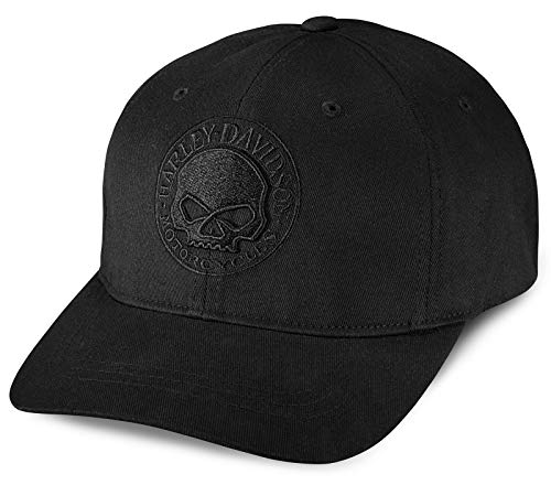 HARLEY-DAVIDSON Willie G® Skull Logo Cap Baseball-Cap Biker Kappe Motorrad Basecap Cappy Mütze mit Stretchband, S