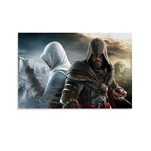 DRAGON VINES Póster de Assassin's Creed Revelations Altaïr Game Póster de lienzo para pared, 60 x 90 cm