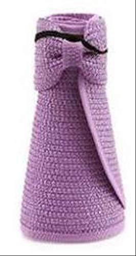 GYFKK Hut Damen Faltbare Strand Sonnenhut Mädchen Urlaub Strand Bowknot Cap purpurn