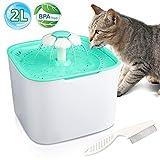 Gifort Haustier Trinkbrunnen 2L Wasserspender für Katze Tiere und Hunde Wasser Trinken Sauberer und Sicherer Filter BPA sichere Materialien
