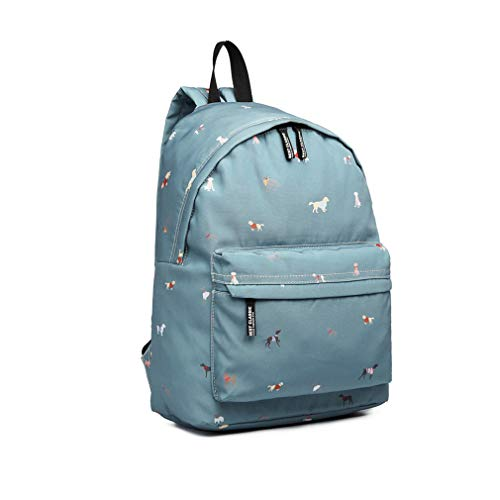 Kono Children Backpacks for High School Students Casual Daypcks Lovely Dogs in Jumpers Pattern Casual Backpack Lightweight Rucksack for Girls and Boys(Blue)