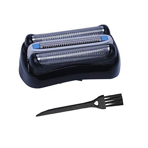 Poweka Ersatz Scherkopf && Reinigungsbürste kompatibel mit Rasierer Braun Series 3 32B 3090cc 3050cc 3040s 3020 340 320