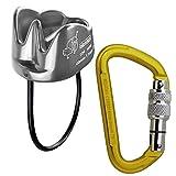 ALPIDEX Kletterset: Sicherungsgerät Tube Silver für Seildurchurchmesser bis 11 mm Screw Karabiner