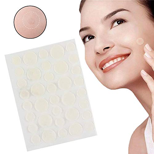 Patch de couverture contre l'acné, hydrocolloïde transparent, correcteurs de bactéries anti-cernes imperméables, ensembles de boutons de guérison rapide pour le corps/le visage (1 set)
