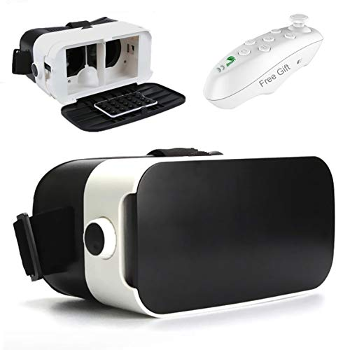 """VR Headset, Virtual Reality Headset 3D VR Glasses Movie/Game Visor [2019 Newest] for iPhone 11 Pro XS XR X 8 7 6 S + Samsung Galaxy A10e S10 S9 S8 S7 S6 Edge+, BLU LG Moto etc [4.0-6.0"""" Smart Phone]"""
