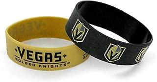aminco NHL Vegas Golden Knights Wide Bracelets, 2-Pack