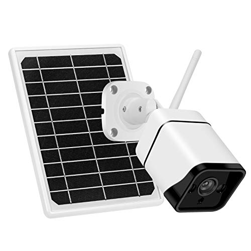 Btuty Cámara de Seguridad Solar inalámbrica 1080P Cámaras IP de vigilancia con batería Recargable con detección de Movimiento PIR, visión Nocturna, Audio bidireccional, IP66 a Prueba de Agua, Incluye