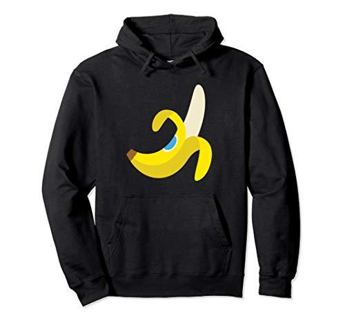 Emoji-Bananen-frische Frucht gelbes Emoticon-Simsen Pullover Hoodie