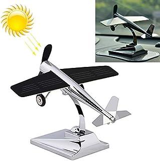 LZSCAR Car Interior Decoration Accessories Aircraft Model Ornaments Propeller Rotating Solar Energy Ornament (Black) (Colo...