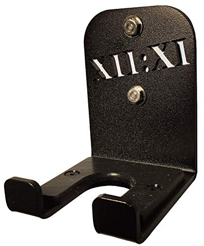 XII:XI Fitness Single Barbell Storage, Vertical Wall Mounted Barbell Holder, Home and Commercial Gym, Made in USA