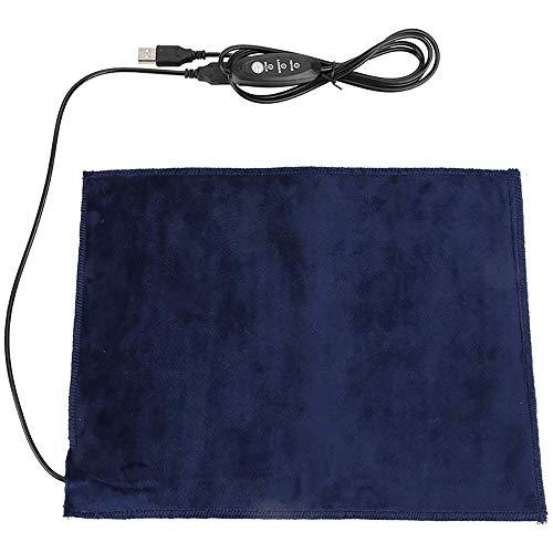 Porcyco Zacht verwarmingskussen voor huisdieren, kattenbed met USB-aansluiting, 5 V, 2 A, wasbare verwarming, 24 x 30 cm, 3 verwarmingsmodi.