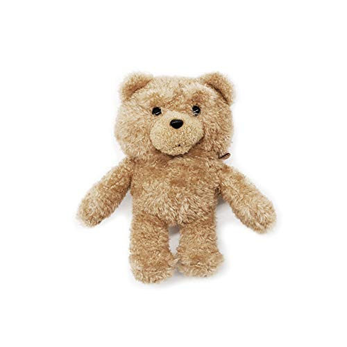 Cute Plush Fur Brown Bear Case Animal Doll Compatible with Airpods1 and Airpod2 Cartoon Headphones Cover with Keychian Clip