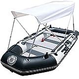 Priority Culture Kayak Hinchable Portátil Canoa con Carpa Kayak de mar rigido Apto para Salir al mar y Pescar (Color : Blue+Gray, Size : 260 * 120cm)
