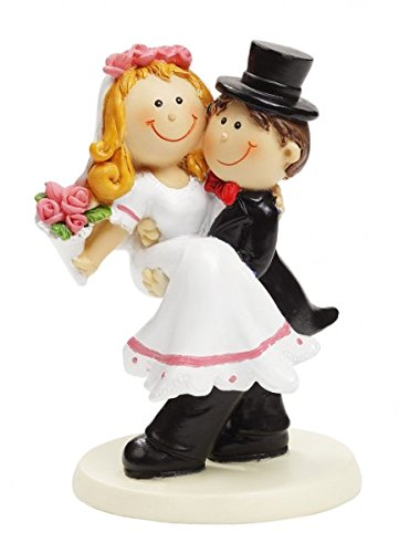 Boda Par de bodas Figura decorativa Novios Hombre ayuda Mujer, 10cm