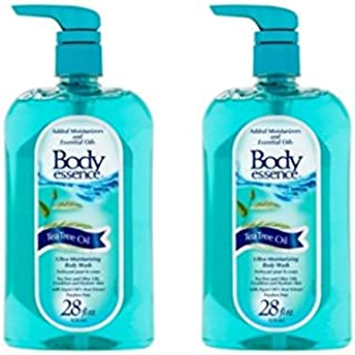 Body Essence Tea Tree Oil Ultra-Moisturizing Conditions and hydrates skin Body Wash - 24 Oz (pack of 2)