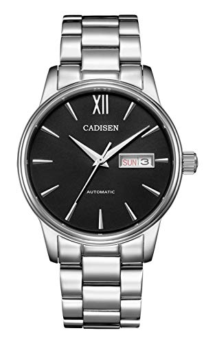 CADISEN C1032, 40mm, Black, NH36 Movement, Display, Sapphire, BNIB