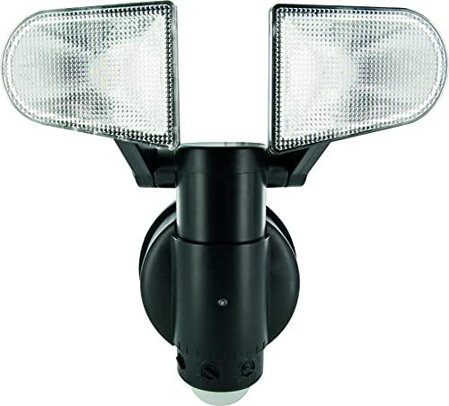 Schwaiger LED220 011 LED Sensor-/ Sicherheits-/ Bewegungsleuchte mit zwei Lampen, Plastik, schwarz, 17,5 x 22,5 x 15,5 cm