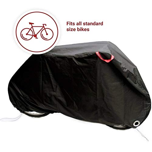 Bicycle And Motorcycle Oxford Cloth Outdoor Rain Cover, Heavy Duty Outdoor Waterproof Anti Dust Rain UV Protection Bicycle Cover/Bike Storage For Mountain Bike, Black (Size : L39*77 * 25.5in)