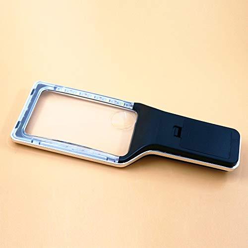 Lupa - Rectangular grande 3X - Lupa de mano - Lupa de lectura - Adecuado para personas mayores, baja visión, libros, páginas - lentes sin distorsión de 23 * 8 cm