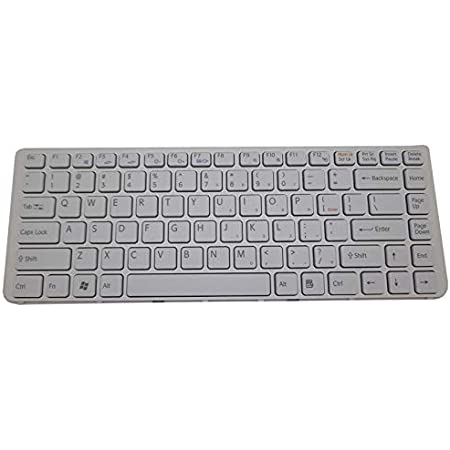 148970211 9Z.N7ASM.002 New US Layout White Color Laptop Keyboard Replacement for Sony P//N: 9Z.N7ASW.101 148969711 148981511 1-489-815-11 1-489-702-11 9Z.N7ASW.301 V081630BZ