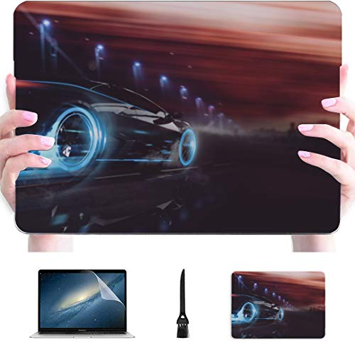 MacBook Pro13 Inch Case Race Car in Racing Car Track Plastic Hard Shell Compatible Mac Air 13' Pro 13'/16' Cover MacBook Air 13 Protective Cover for MacBook 2016-2020 Version