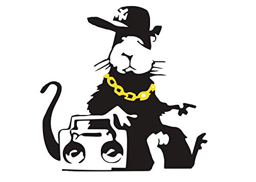 Banksy Sticker Ghetto Blaster Rat Graffiti Street Style Trend Decorative Weatherproof UV Resistant