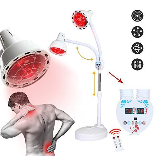 ZYJFP Infrarood lamp, twee koppen, multifunctioneel, afstandsbediening, infrarood, voor therapie, verlichting van spierpijn, ideaal voor woonkamer, schoonheid, 275 W