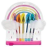 iscream Groovy Gel Rainbow and Clouds Mini Gel Pen Set in Shaped Zipper Case