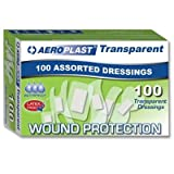 Assorted Transparent Plasters - Aeroplast (Box Of 100 Sterile wrapped plasters) - be fully prepared for an incident at home or at  work