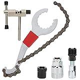 Herramienta para cadena de bicicleta, 5 piezas, herramienta cortadora de cadena a prueba de óxido, pasador de accionamiento doble, para mantenimiento de bicicletas, para quitar el pasador