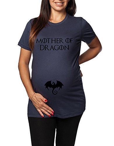 Tshirt Lunga da Donna Ideale per Il Premaman, Mothers of Dragon - Game of Thrones - Il Trono di Spade - Serie TV - Idea Regalo
