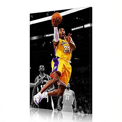 Regalo Cave Leggenda NBA Kobe Los Angeles Lakers su Tela Poster Immagine Nuova Decorazione Domestica Uomo (prints15,60x90cm)