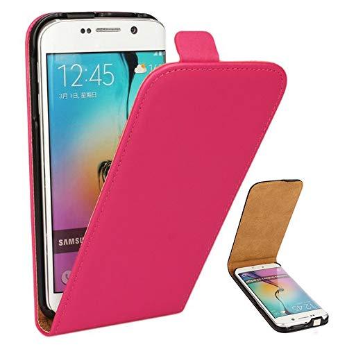 Roar Handy Hülle für Samsung Galaxy S5 Mini Handyhülle Pink, Flipcase Schutzhülle Tasche für Samsung Galaxy S5 Mini, PU Lederhülle mit Magnetverschluß