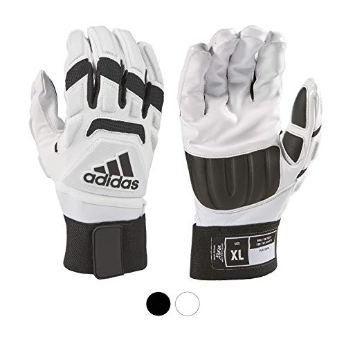 adidas Freak MAX 2.0 Padded Lineman Football Gloves, White, X-Large - Premium Football Gear