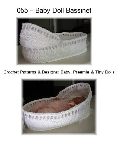 Baby Doll Bassinet: Crochet Pattern for Baby, Preemie, and Tiny Dolls (Patterns By Jeannine) (English Edition)