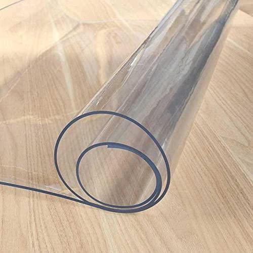 TEEAYMM Lavable 1.0 Mantel de Vidrio Suave de PVC Esmerilado Transparente, Impermeable y a Prueba de Aceite, Almohadilla para Mesa de café, Tablero Suave de Cristal, Mesa de café