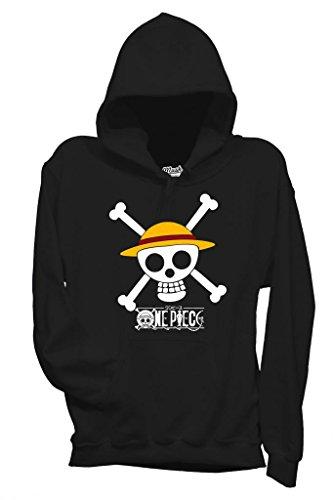 MUSH Sweatshirt One Piece Crâne - Dessin Anime by Dress Your Style - Homme-XXL-Noir