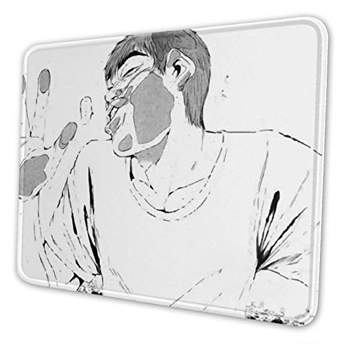 Mouse Pad Großer Lehrer Onizuka # 1 - Auf Dem Fenster Benutzerdefiniertes Laptop-Mauspad Rutschfestes Büro 25X30Cm Mausmattenschlafsaal Anime-Schule Mit Genähtem Rand Desktop-Compu