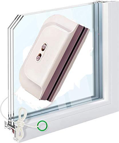 SQL Limpiacristales Magnético de Ventanas,de Doble Acristalamiento Cuadrado Limpiador de Vidrio de Dos Lados,Adecuado para Vidrio de 8-28 mm