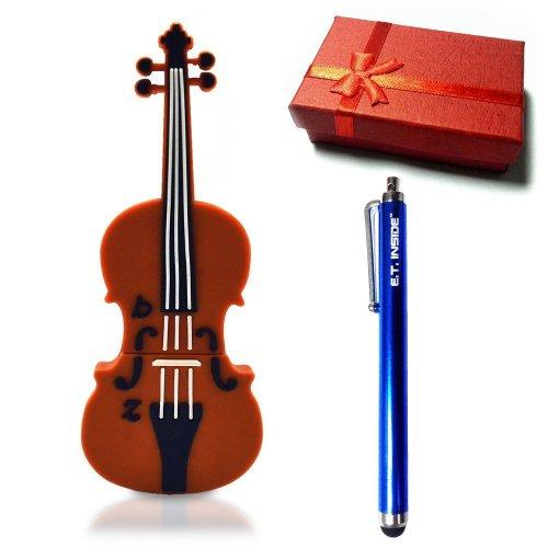 E.T. INSIDE viool vorm USB Flash Drive in geschenkdoos merk Stylus 4GB BRON