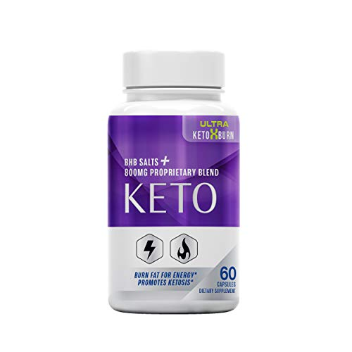 The Official Brand Ultra Keto X Burn, BHB Salts + 800 MG Proprietary Blend, Burn Fat for Energy, Promotes Ketosis