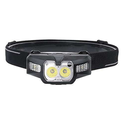 chenpaif Scheinwerfer, LED IR Bewegungssensor Mini Scheinwerfer 2 x XP - G2 + 2 x 3030 Rot 5-Mode Scheinwerfer Wiederaufladbare Stirnlampe Jagdlicht