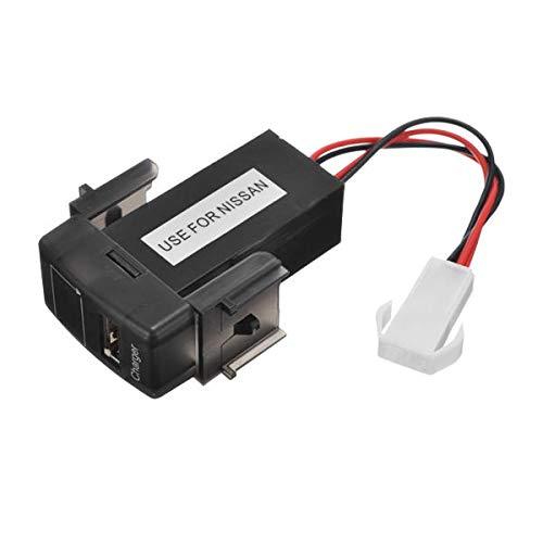 Ddgdkj0758 JZ5002-1 Cargador de batería de automóvil de Jiazhan Voltmeter 2.1A Dedicación del puerto USB Modificar solo para Nissian Ddgdkj0758