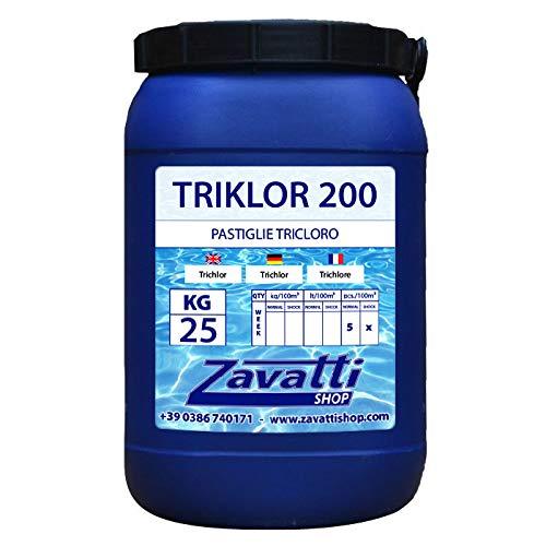 Zavattishop 25 Kg Triklor 200 - Tricloro In Pastiglie Da 200 Gr