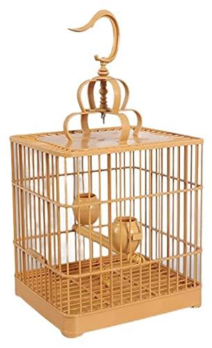 M3 Decorium Jaula de pájaros pájaros Cuadrado de plástico de baños de plástico pájaro pájaro myna lrorot portátil Colgante Jaula de pájaro con Vara de pie (Color : A)